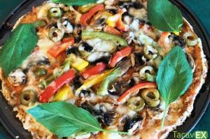 Pizza de Harina de Almendras. Deliciosa Pizza Sin Harinas Refinadas.