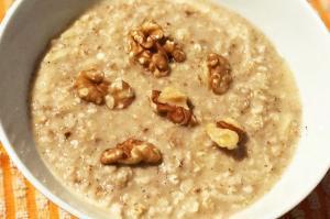 Porridge de avena con Leche de Almendras