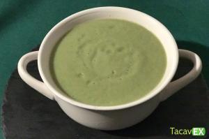 Crema de Brócoli saludable con calabacín y berenjena