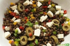 Ensalada de legumbres con lentejas y quinoa (fácil y saludable).