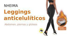 Leggings anticelulíticos y térmicos (cintura alta y push up). Apta para deporte y estar en casa