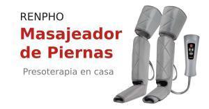 Masajeador de piernas, pantorrillas y pies RENPHO. Presoterapia portátil en casa.