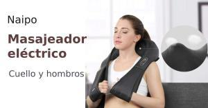 Masajeador de hombros y cuello Naipo  (eléctrico, rotación 3D y velocidad ajustable)