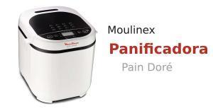 Panificadora Moulinex Pain Doré OW2101 (12 programas automáticos, 1 Kg, pantalla LCD, 3 opciones de tostado, l650W, recetario de bizcochos, masas, mermeladas, cremas, sin gluten)