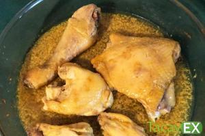 Pollo al horno con curry y coco. Comida Saludable y Exótica.