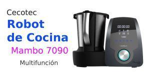 Robot de cocina Cecotec Mambo 7090 (30 funciones, 3.30 litros, 10 velocidades, programable hasta 12 horas, jarra para lavavajillas, 120ºC, 1700W)